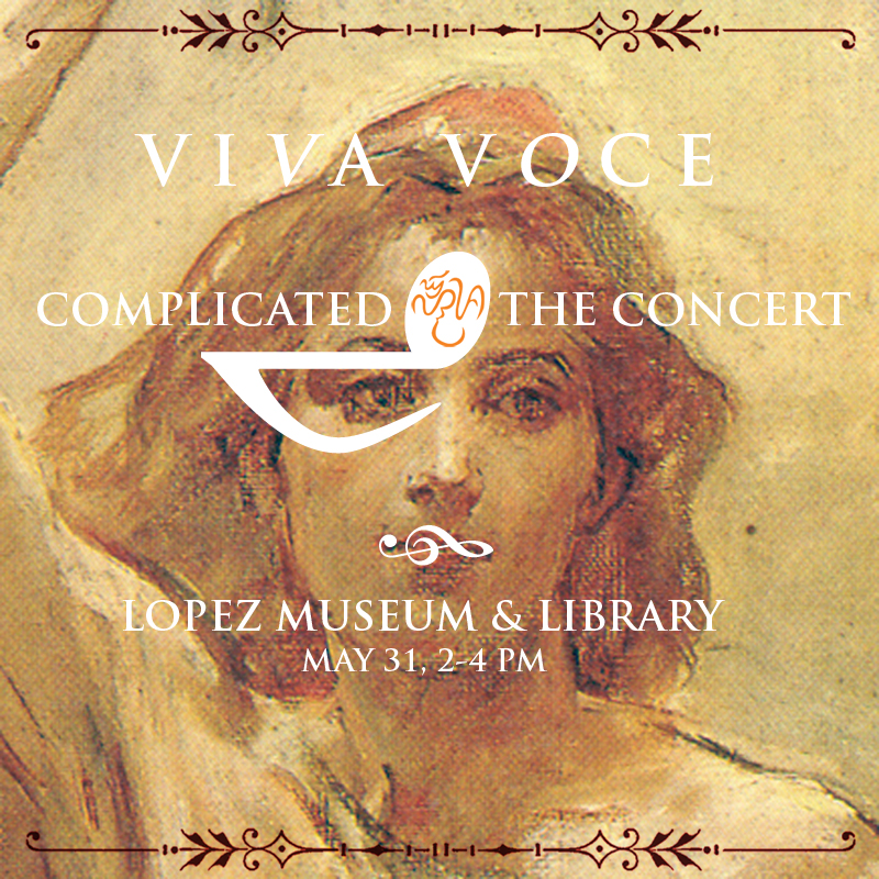 'Complicated: the Concert' on May 31, 2 to 4pm, P300 per person (P270 for students and museum members). The fee includes admission to the current exhibition Complicated.