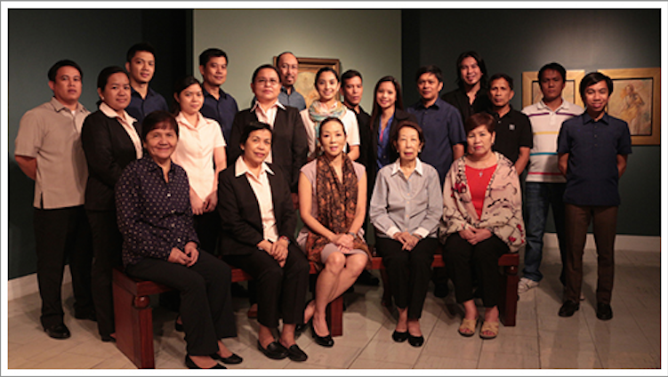 Stewards and Custodians of Heritage: Standing, l-r: Romeo Jalandoni, Cristina Modrigo, Mark Manalili, Kristine Pastrana, Gerry Marquez, Iday Marpa, Peter Natividad, Marga Villanueva, Jun Catambay, Ethel Villafranca, Rod Enano, Ricky Francisco, Domingo Magaling, Ricardo Calizon and Paolo Arago; Seated, l-r: Elvie Iremedio, Mercy Servida, Mercedes Lopez Vargas, Margarita Fragante and Fanny San Pedro. Not in photo: Eric Ambata, Grace de Leon, Grace Macalincag, Mildred Apilado and Maita Reyes