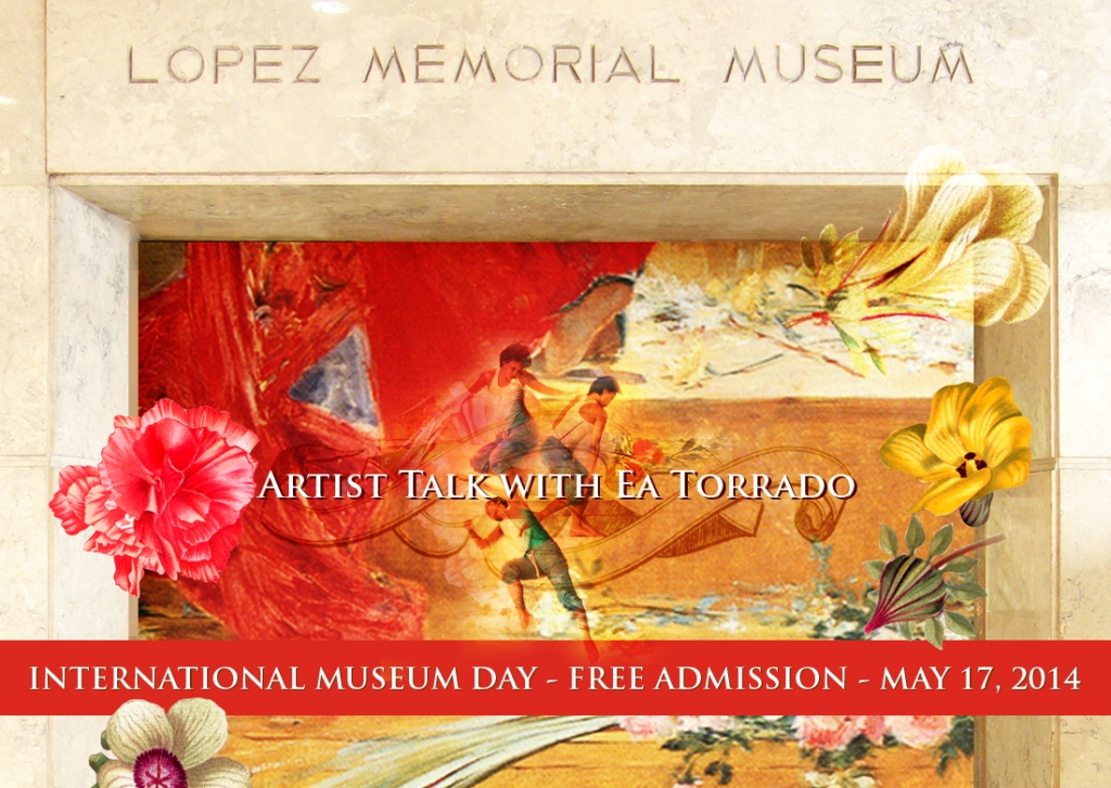 In celebration of the International Museum Day 2014, registration to the Artist Talk and admission to the museum throughout the day will be FREE. Guided tours will be available every hour on the hour starting 9 a.m to 4 p.m.