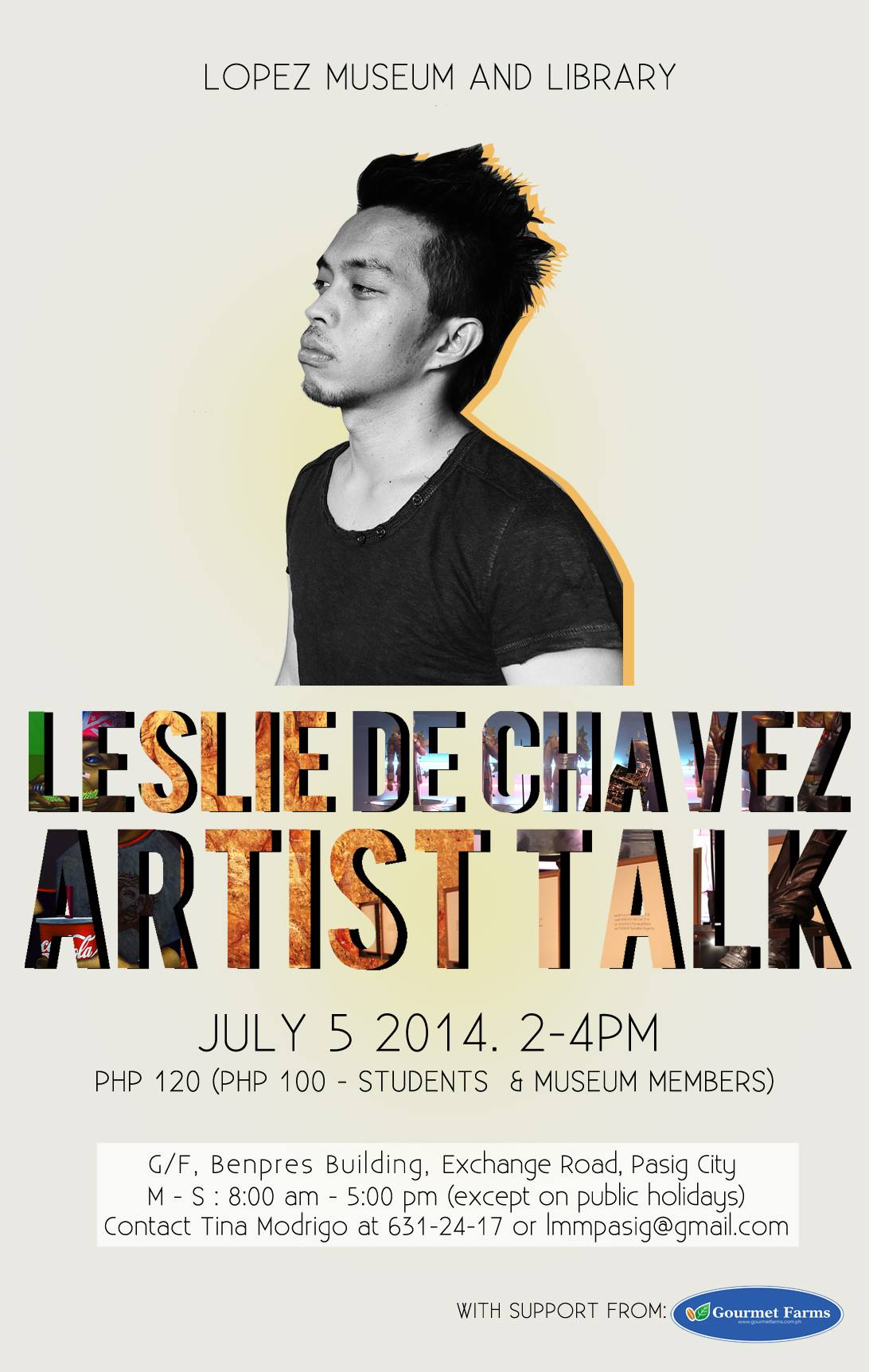 Leslie de Chavez's Artist Talk on 5 July for Complicated Exhibit