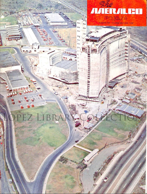The López Building (Meralco Building) under construction circa 1968.