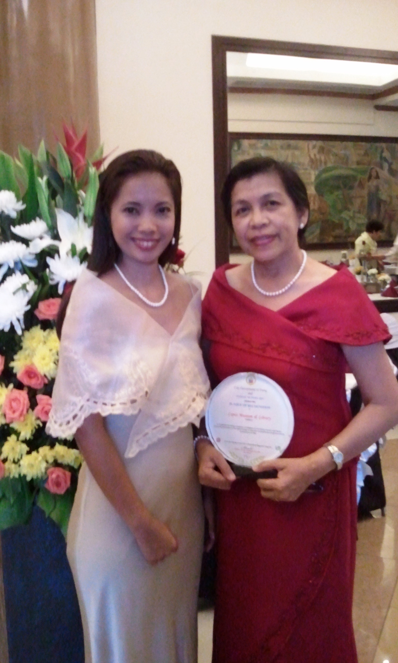 Ms. Ethel Villafranca (Museum Administrator) and Ms. Mercy Servida (Head Librarian)