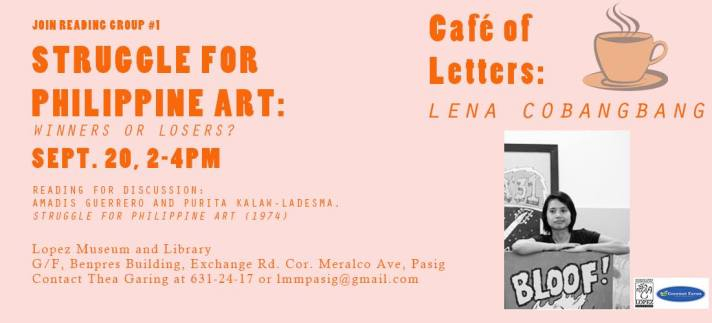 Cafe of Letters with Lena Cobangbang on September 20