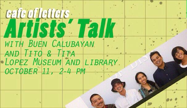 Artists' Talk with Buen Calubayan and Tito & Tita