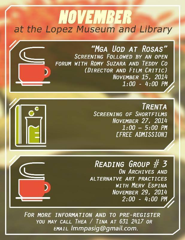 November at the Lopez Museum 2014