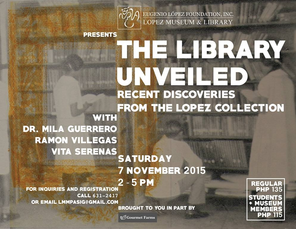 November_Events_Lopez_Museum_Library_Unveiled