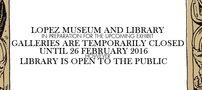 Closure until 26 February