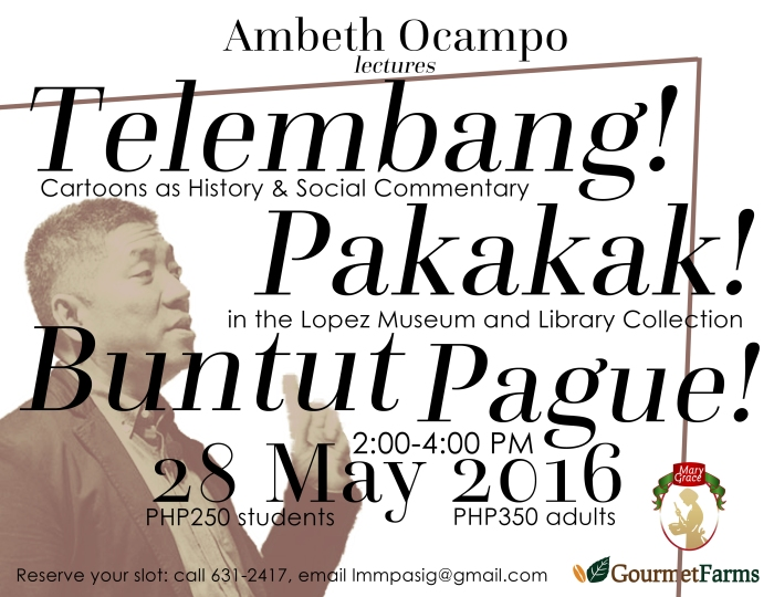 28 May Ambeth Ocampo Lecture