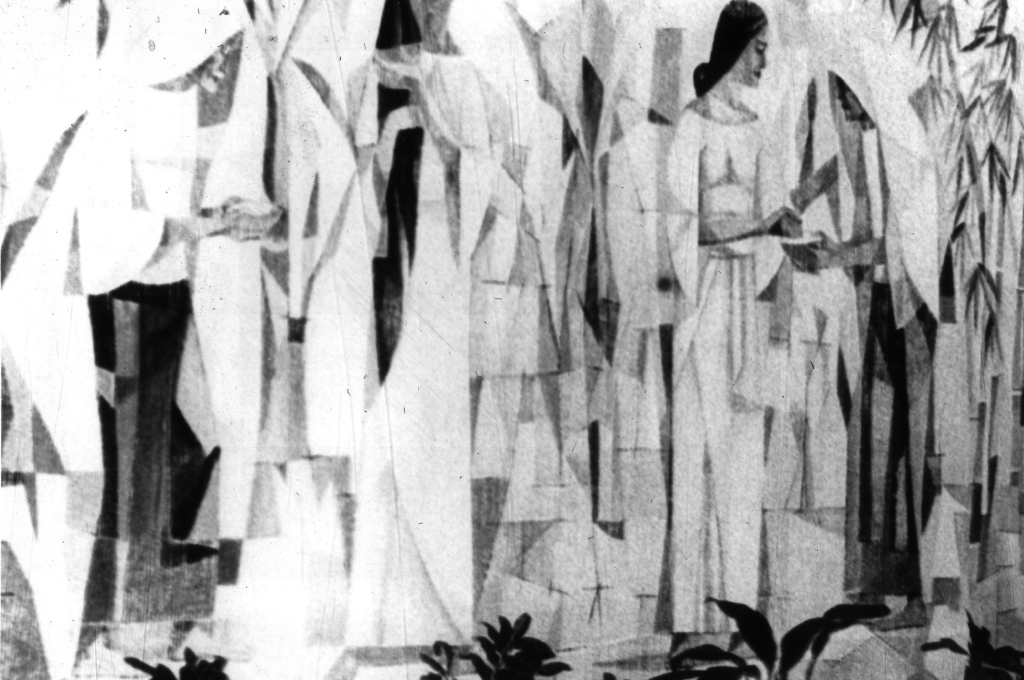 A substantial section of Vicente Manansala's mural