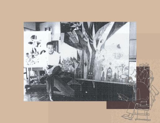 Malang in his Studio
