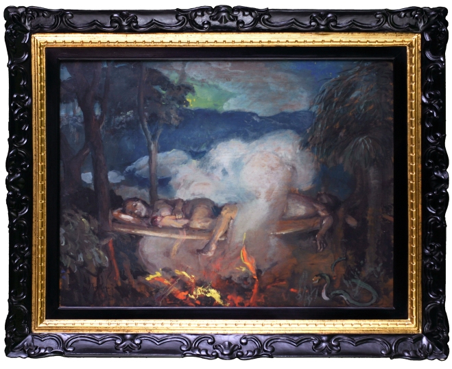 Juan Arellano. Untitled. Undated. Oil on canvas. Lopez Museum and Library Collection.